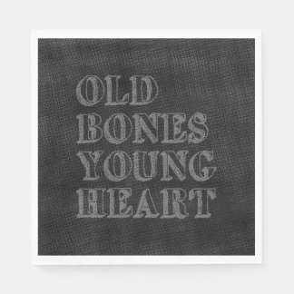 Old Bones Young Heart Paper Napkin