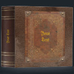 """Old Book Binder<br><div class=""""desc"""">This binder looks like an old book and would match the shelf of any antique interior. Great for recipes,  as a photo album or diary. Remember to customize the text on front and spine!</div>"""