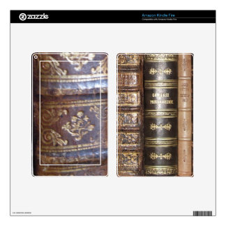 Old Book Binding Decals For Kindle Fire