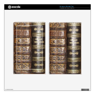 Old Book Binding Kindle Fire Decals