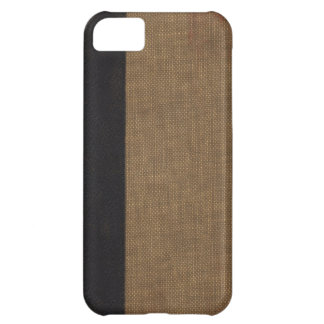 Old book cover, faux leather bound retro look iPhone 5C cover