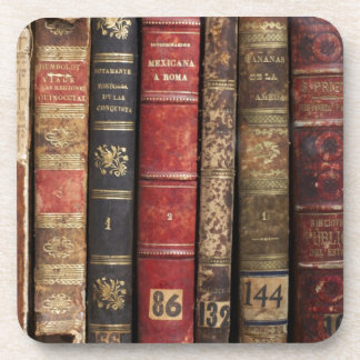 Old Book Drink Coaster