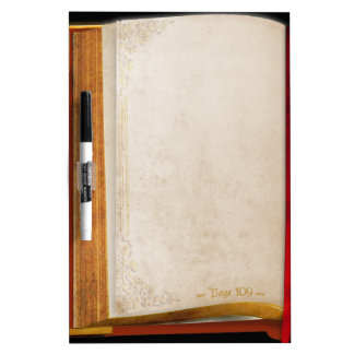 Old Book Dry-Erase Board