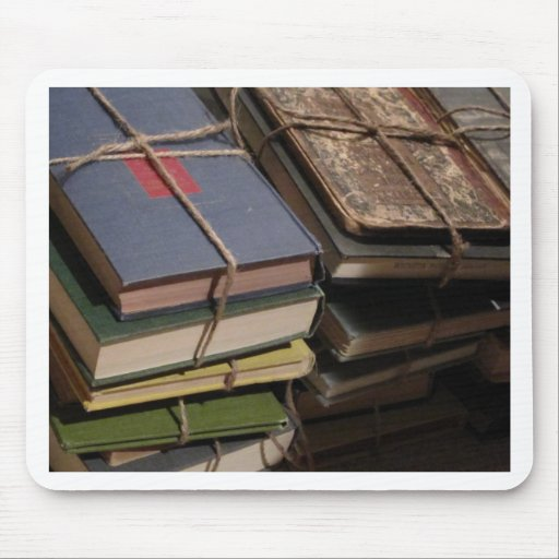 Old book stack mouse pad