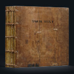 """Old Book with Wooden Cover Binder<br><div class=""""desc"""">Replace the text with your own,  or just delete it.   If you want the 2&quot; binder,  the spine will not fit well,  so please go to:  www.zazzle.com/antique_book_with_wooden_cover_binder-127348725229990351  More items with this design:  www.zazzle.com/aura2000/antique wood</div>"""