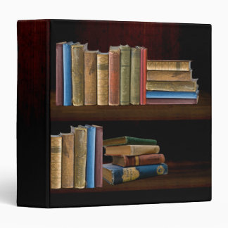 Old Books Bookcase 3 Ring Binder