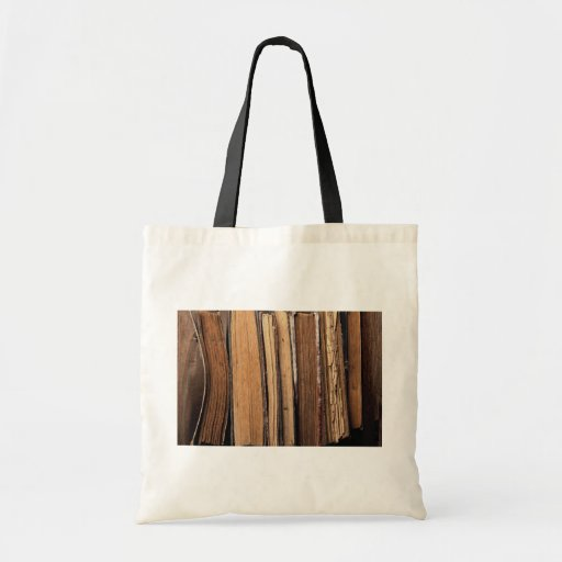 Old books budget tote bag