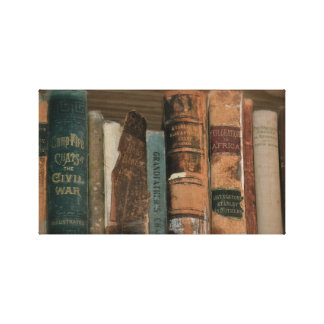 Old Books Gallery Wrapped Canvas