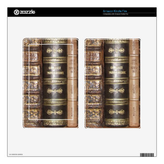 Old Books Kindle Fire Decal