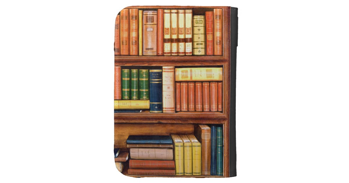Old Book Kindle Case ~ Old books library bookshelf kindle case zazzle