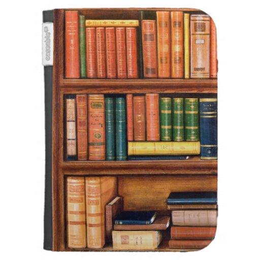 Old Book Kindle Case : Old books library bookshelf kindle case zazzle