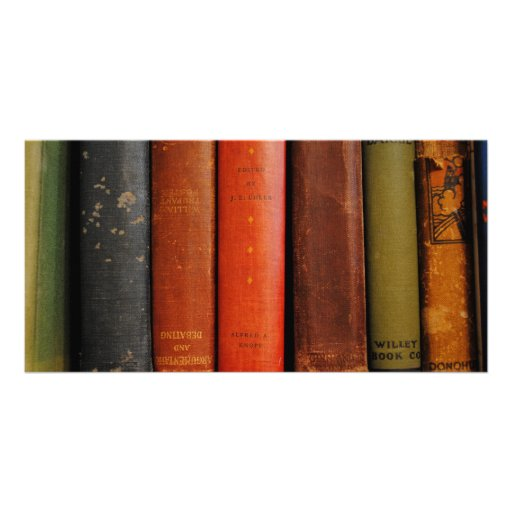 Old Books Photograph Photo Cards