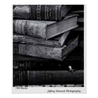Old Books Poster