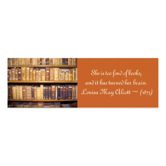 Old Books/Quotation mini-bookmark Mini Business Card
