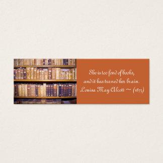 Mini book business cards templates zazzle old booksquotation mini bookmark mini business card reheart Choice Image