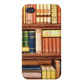 Old Books Vintage Library Bookshelf Case For iPhone 4