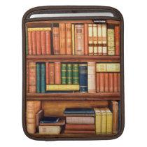 Old Books Vintage Library Bookshelf iPad Sleeve