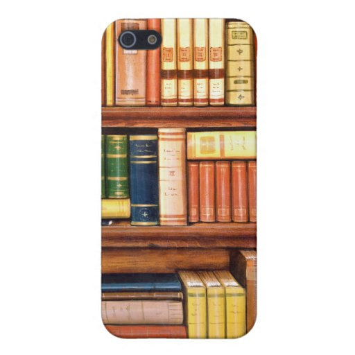 Old Books Vintage Library Bookshelf iPhone 5 Cases