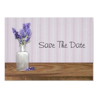 Old Bottle Of Lavender Save The Date Card
