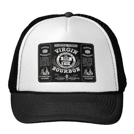 Old Bourbon Label Mesh Hat