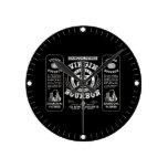 Old Bourbon Label Round Clock