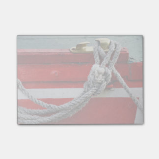 Old Bow Ropes On Brass Cleat On Canal Boat Post-it® Notes