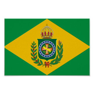 Old Brazilian flag  Poster