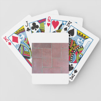 Old brick footpath background bicycle playing cards