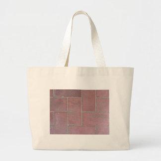 Old brick footpath background large tote bag