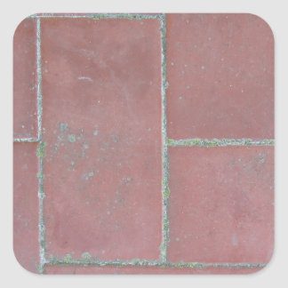 Old brick footpath background square sticker