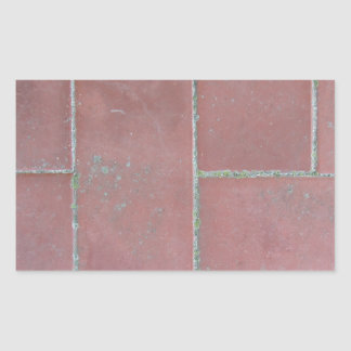 Old brick footpath background rectangular sticker
