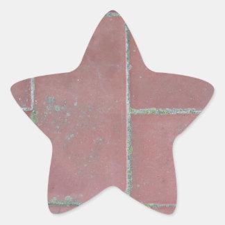 Old brick footpath background star sticker