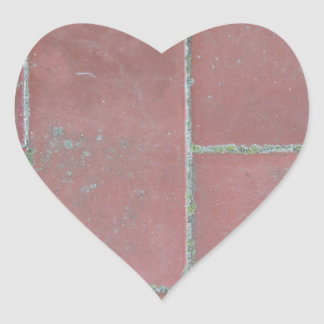 Old brick footpath background heart sticker