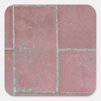 Old brick footpath background square sticker
