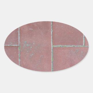 Old brick footpath background oval sticker