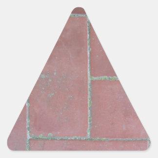 Old brick footpath background triangle sticker
