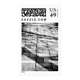 Old brick pathway stamps