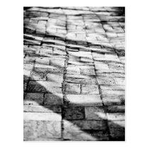 Old brick pathway postcard