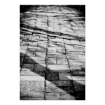 Old brick pathway poster