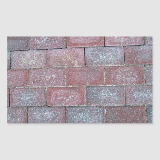 Old Brick Pavement Background Rectangle Stickers