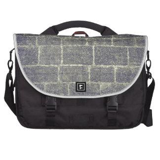 Old Brick Stone Design. Nonsymmetric Stone Wall Laptop Messenger Bag