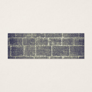 Old Brick Stone Design. Nonsymmetric Stone Wall Mini Business Card