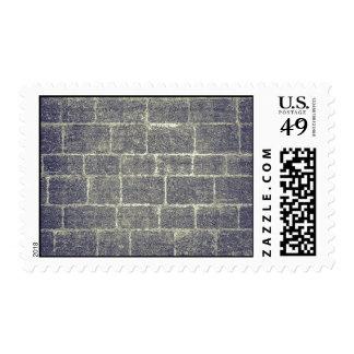 Old Brick Stone Design Nonsymmetric Stone Wall Postage