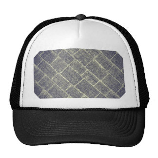 Old Brick Stone Design. Nonsymmetric Stone Wall Trucker Hat