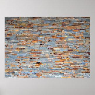 Old Brick Wall Backdrop Poster