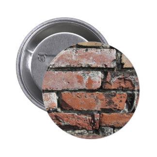 Old brick wall background 2 inch round button