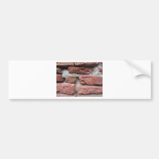 Old brick wall background bumper sticker