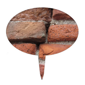 Old brick wall background cake topper
