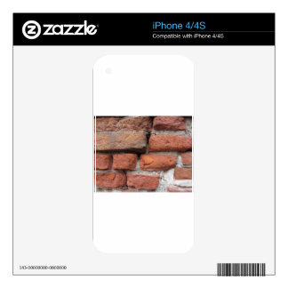 Old brick wall background decal for the iPhone 4S