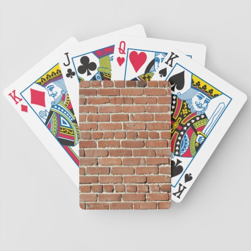 Old Brick Wall Background Deck Of Cards